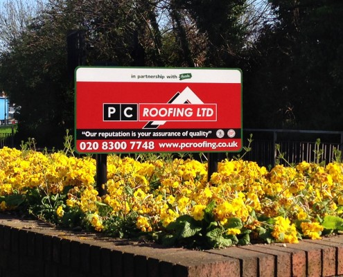 PC Roofing Signage