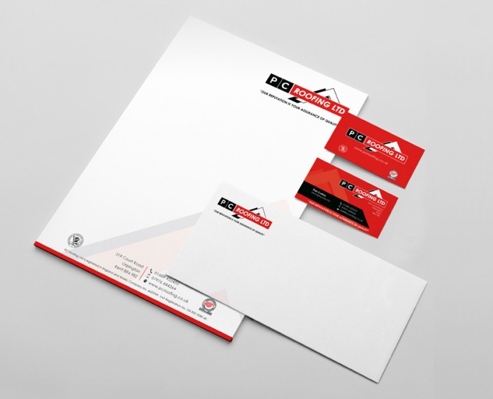 PC Roofing Stationery Design