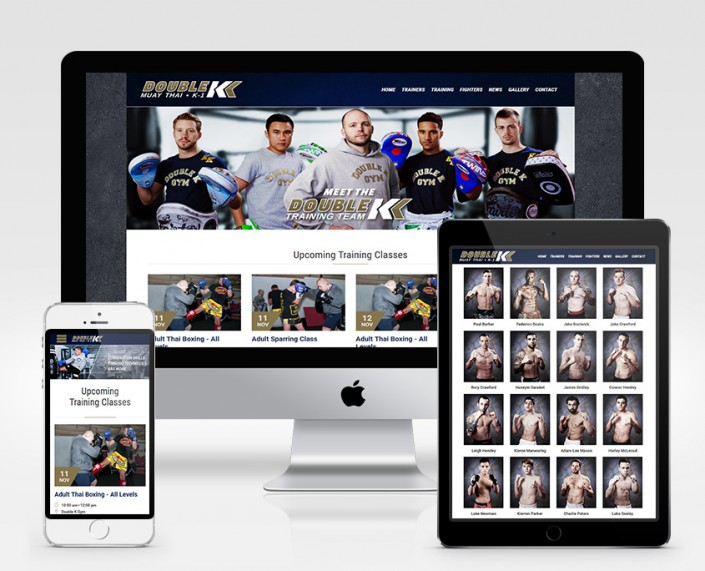 Double K Gym Responsive Web Design