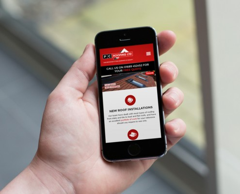 PC Roofing Mobile Web Design