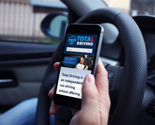 Total Driving Mobile Website Design