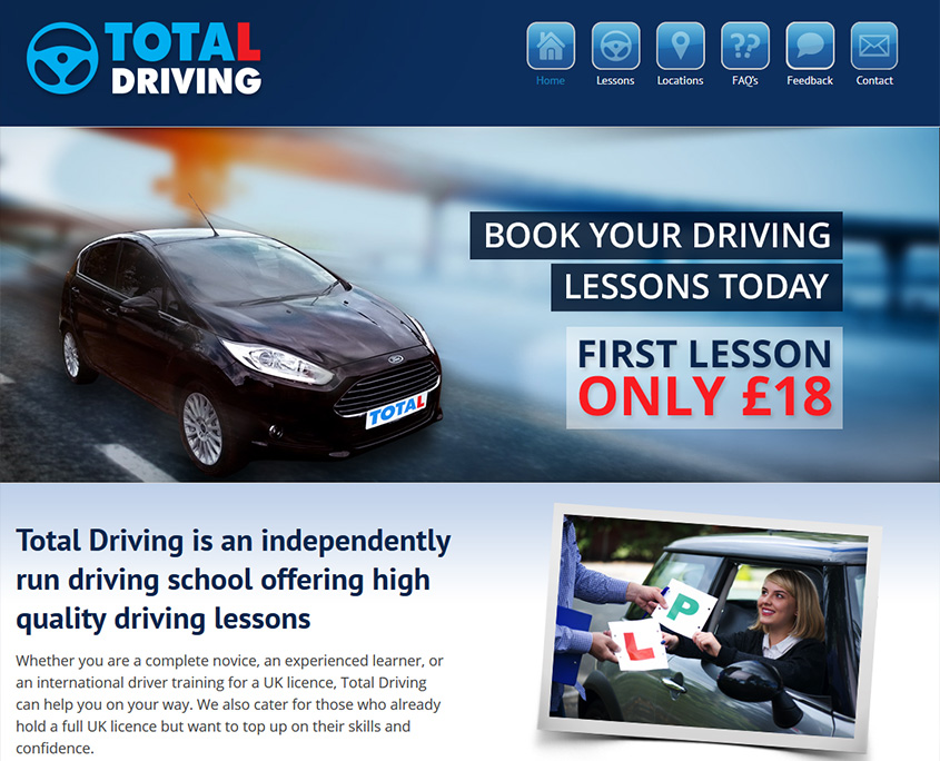 Total Driving Website Design