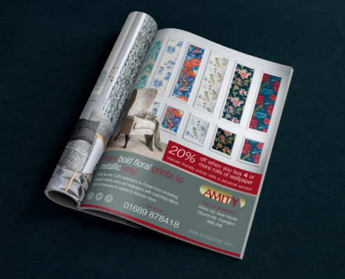Amity Blinds Magazine Ad Design Orpington