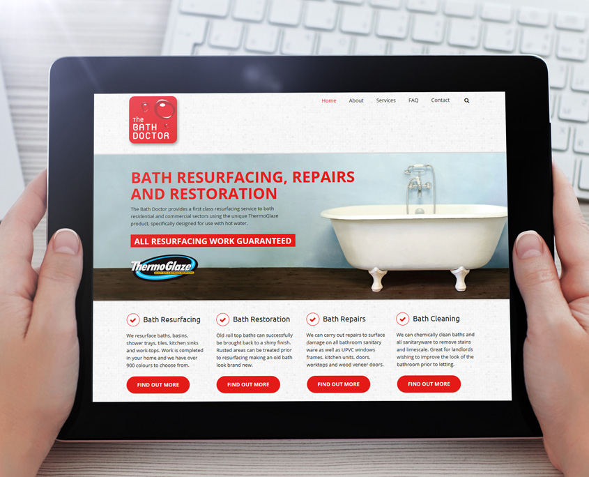 Bath Doctor Web Design