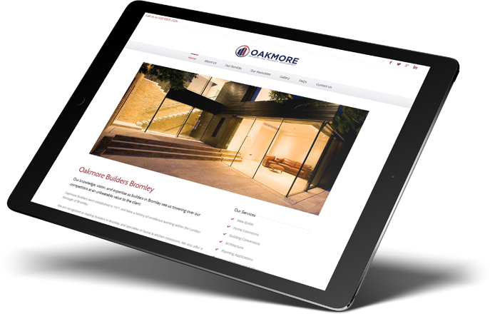 Oakmore Builders Website Design