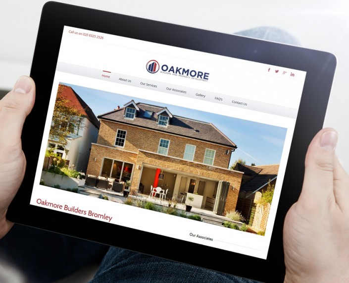 Oakmore Builders Website Design