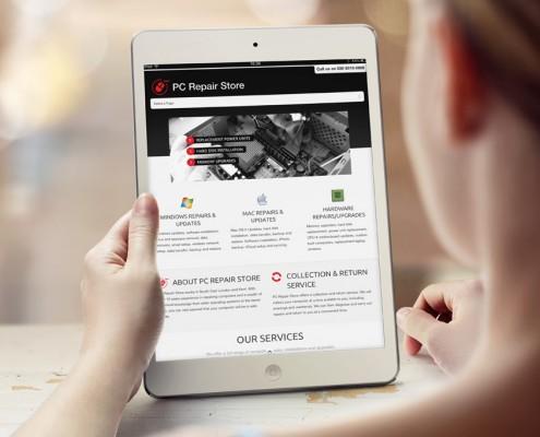 PC Repair Store Web Design