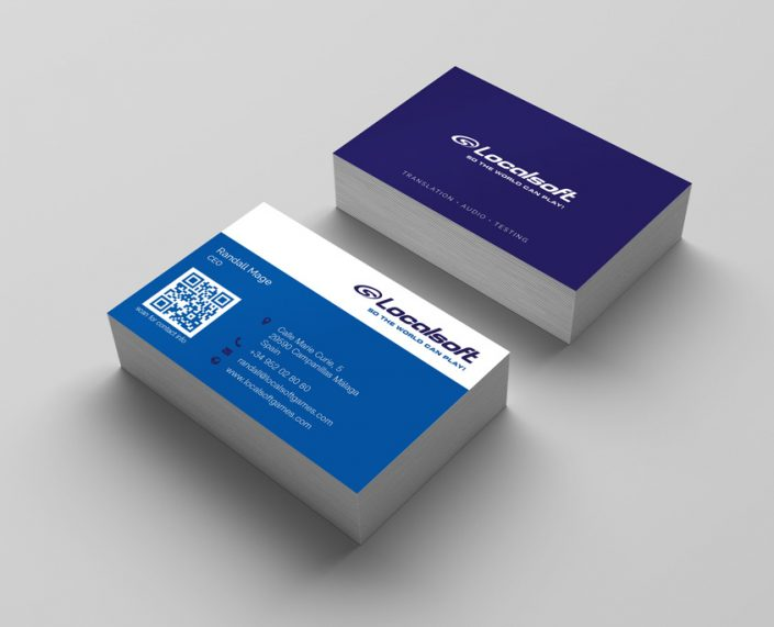 Localsoft Games Business Cards