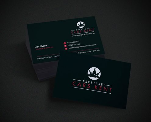 Prestige Cars Business Card