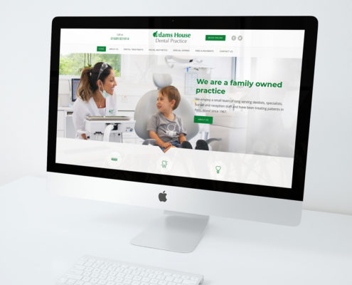 Adams House Dental Web Design Orpington