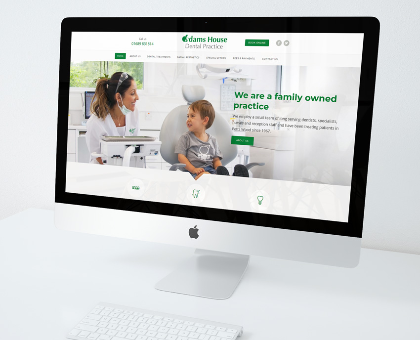 Adams House Dental Web Design