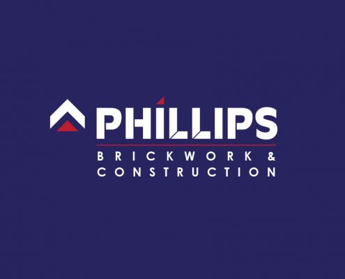 Phillips Brickwork & Construction Logo Design Orpington