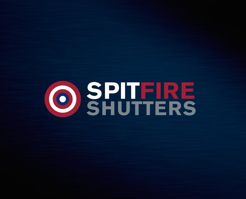 Spitfire Shutters Logo Design