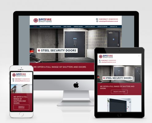 Spitfire Shutters Website Design Orpington