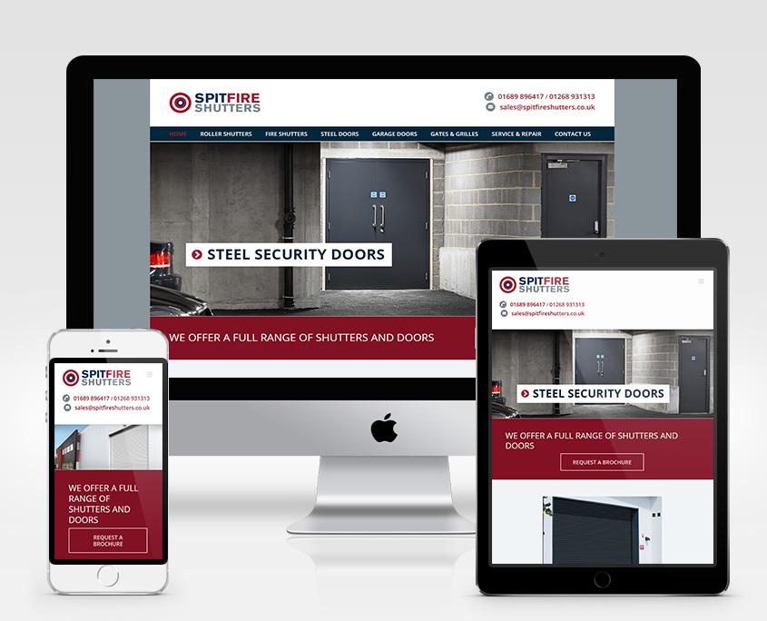 Spitfire Shutters Website Design Orpington