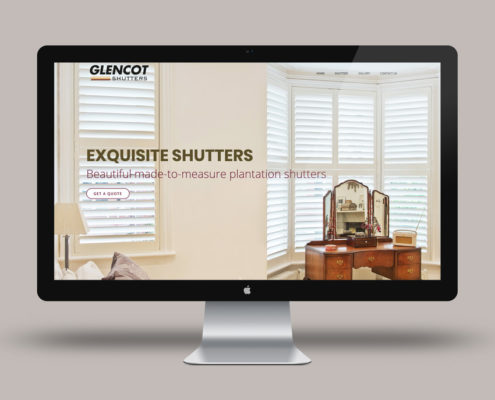 Glencot Shutters Web Design