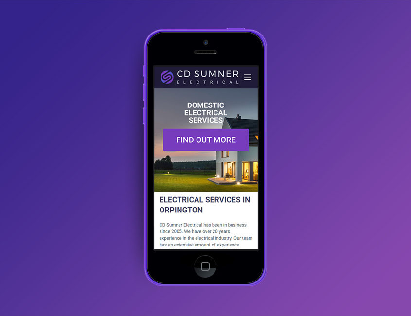 CD Sumner Electrical Web Design