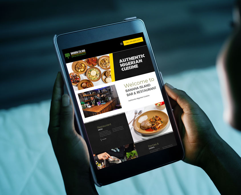 Banana Island Restaurant Web Design